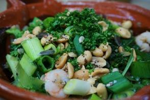 Salt & Pepper 'Fakeaway' Prawns with Cauliflower Rice & Salted Peanuts