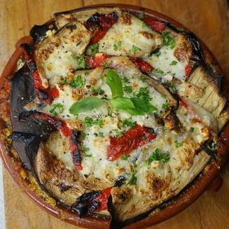 Aubergine/Eggplant Veggie Lasagne with Tofu Mince Bolognese