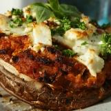 Stuffed Portobello Mushrooms with Tofu Bolognese