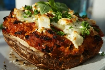 Stuffed Portobello Mushrooms with Tofu Bolognese